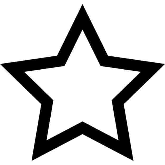 molde estrela vazada