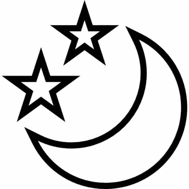 molde estrelas e lua