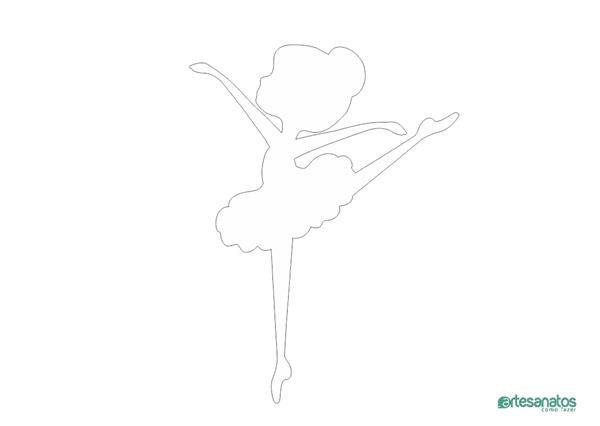 molde de bailarina para painel