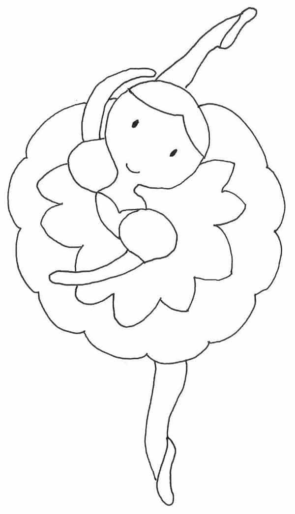 molde de bailarina de pano