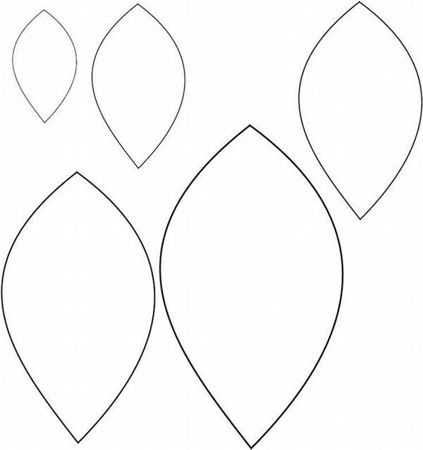 Moldes De Folhas: Papel, Feltro E EVA