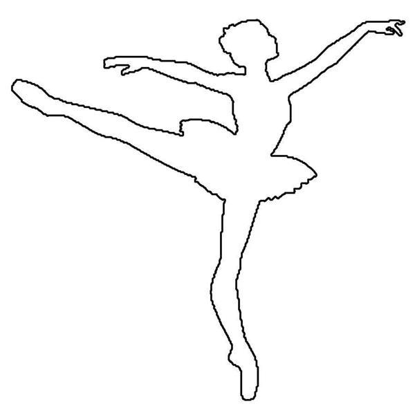 molde de bailarina na ponta do pé