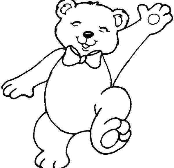 molde de ursinho feliz
