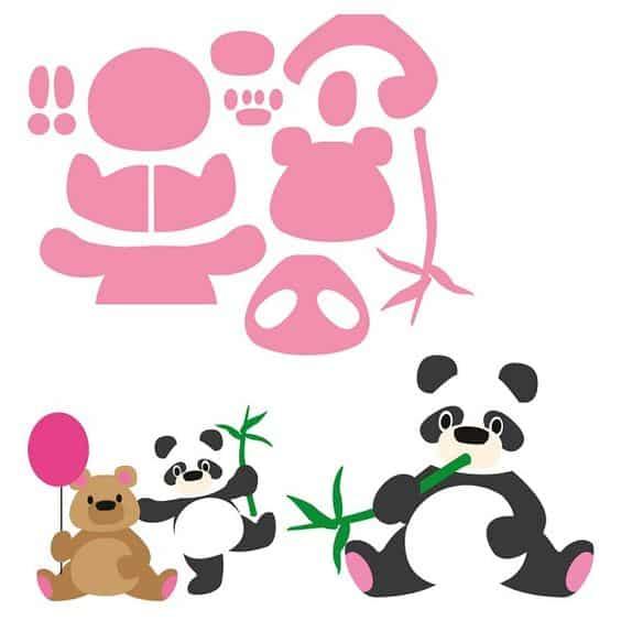molde de ursinho panda