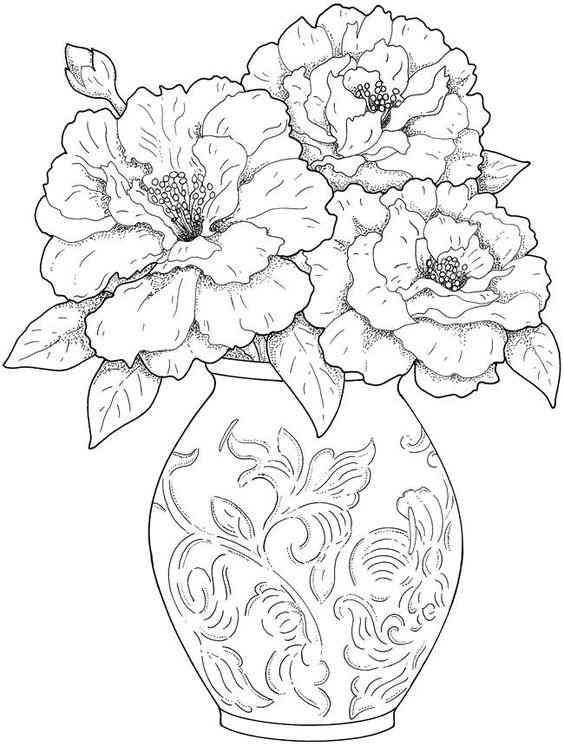 moldes de vasos de flores