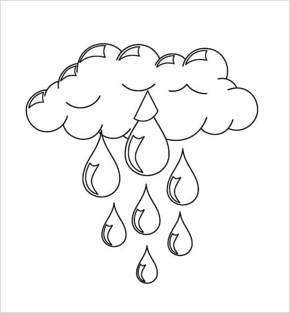 molde de nuvem com chuva