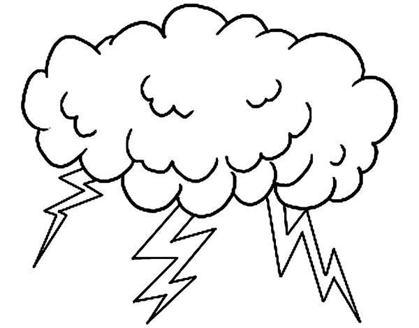 molde de nuvem com raio