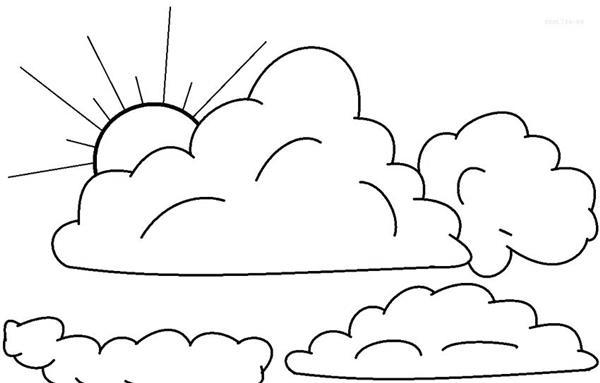 molde de nuvem com sol