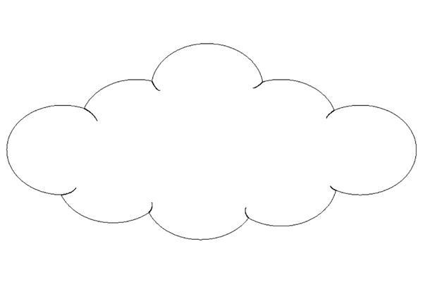 molde de nuvem bem grande