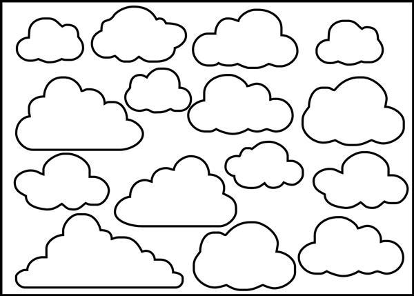 moldes de nuvens pequenas
