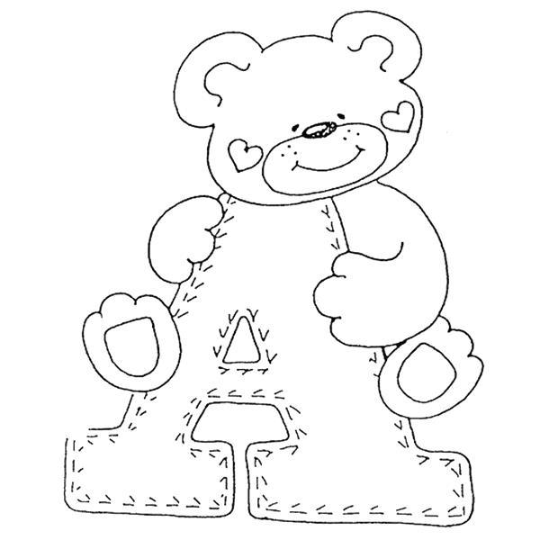 molde de ursinho com letra