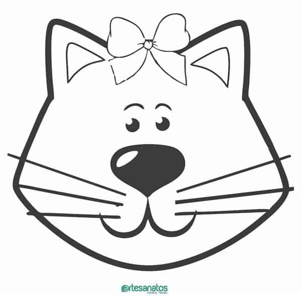 cabeça de gato para colorir e imprimir