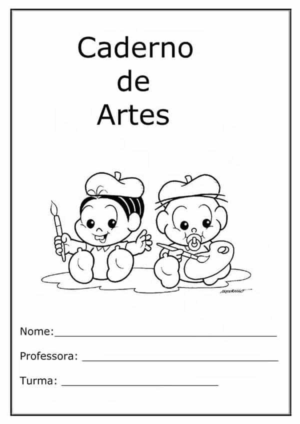 Desenhos Para Capa De Caderno Escolar Para Imprimir