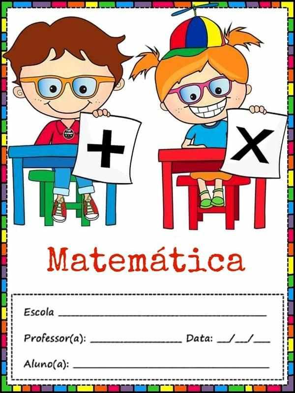 capa de caderno de matematica para imprimir