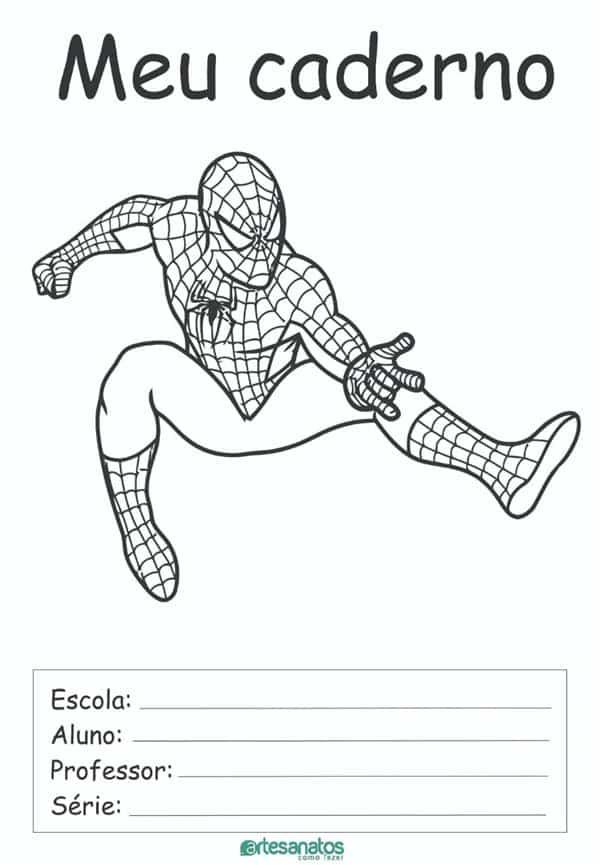 desenhos para capa de caderno homem aranha