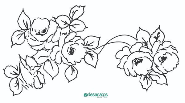 como desenhar rosas bonitas