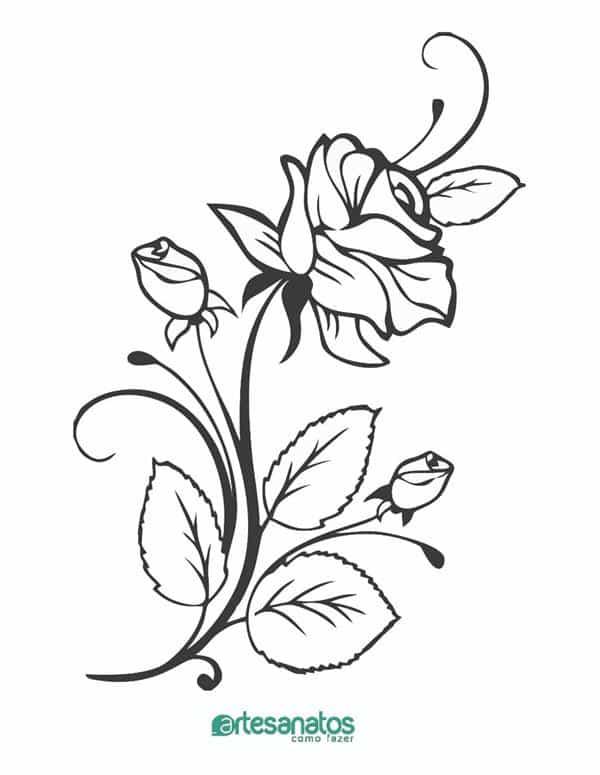 desenhos de rosas para tatoo