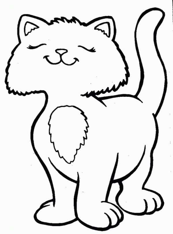 gato grande para colorir