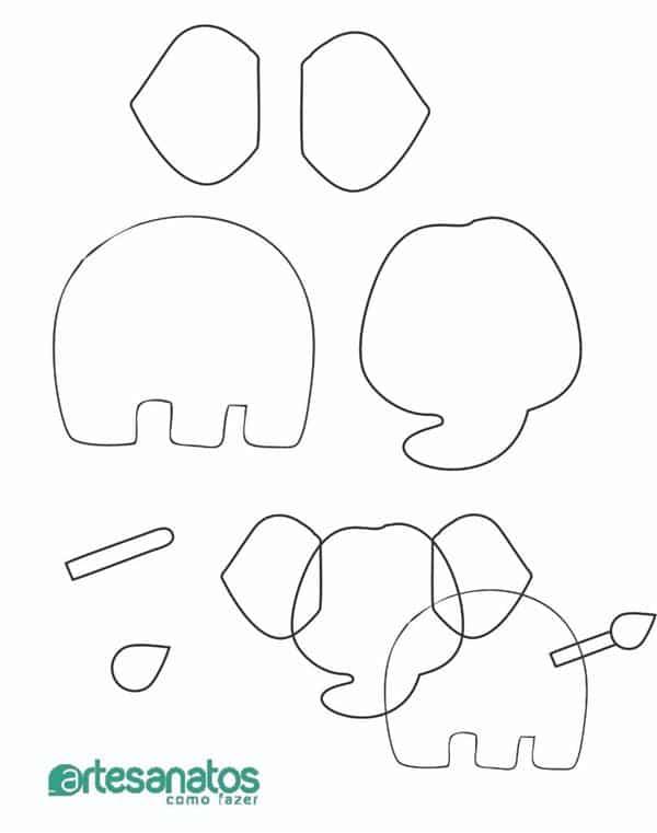 moldes de feltro animais