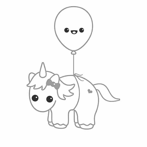 unicornio com balao