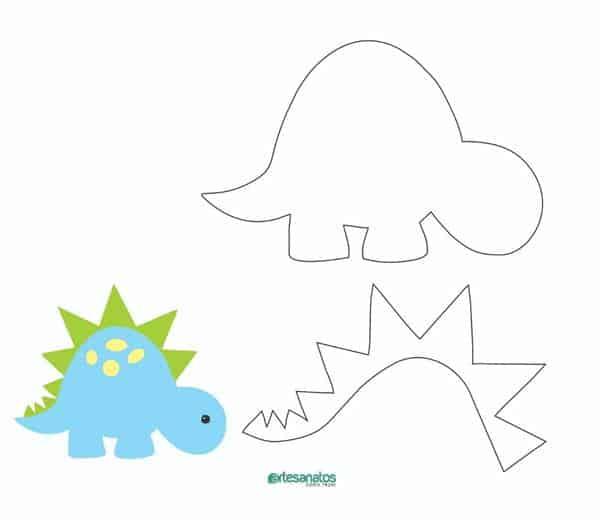 molde de dinossauro