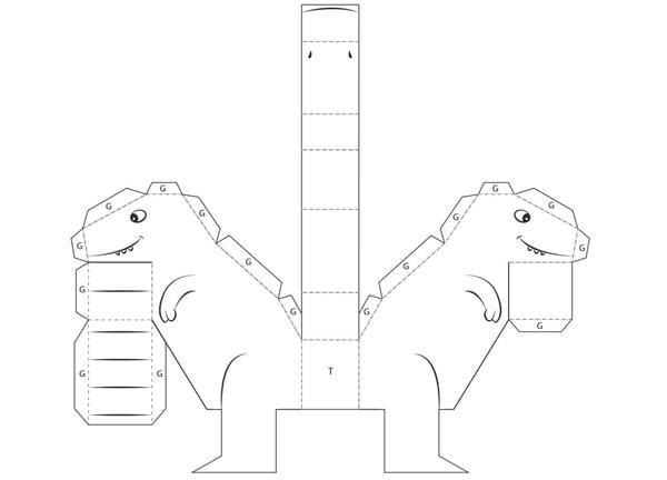 molde de dinossauro para montar