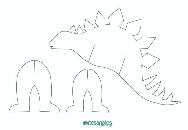 molde de dinossauro em eva