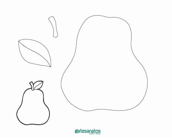 Molde De Frutas Para Imprimir 19 Desenhos