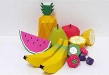 moldes de frutas gratis