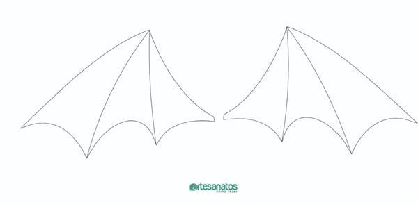 molde de morcego de eva