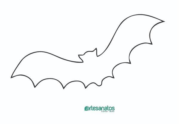 molde de morcego para recortar