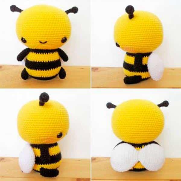 abelha amigurumi