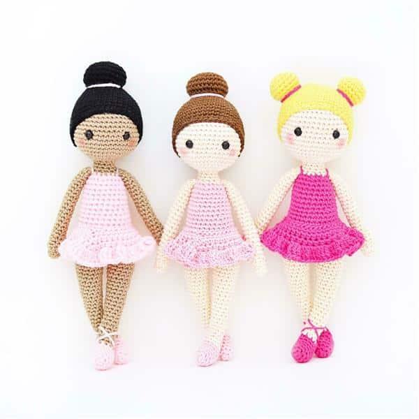 boneca de crochê bailarina