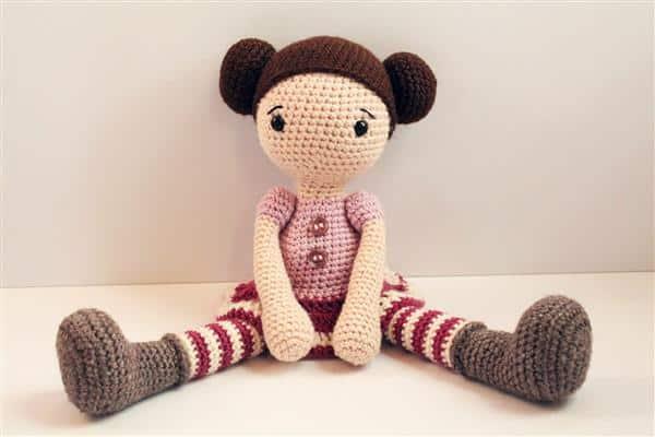 bonecas de crochê amigurumi