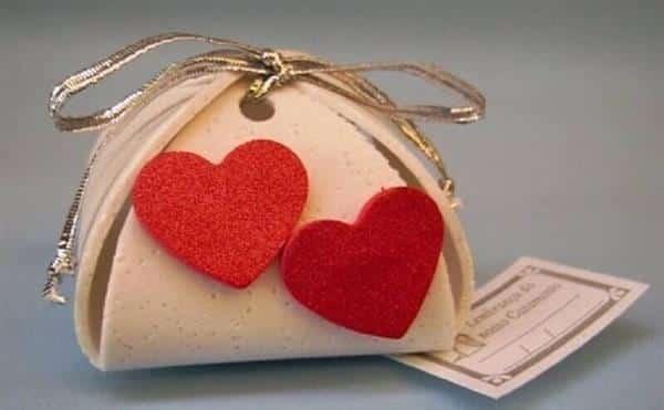 Porta bombom de EVA com coração