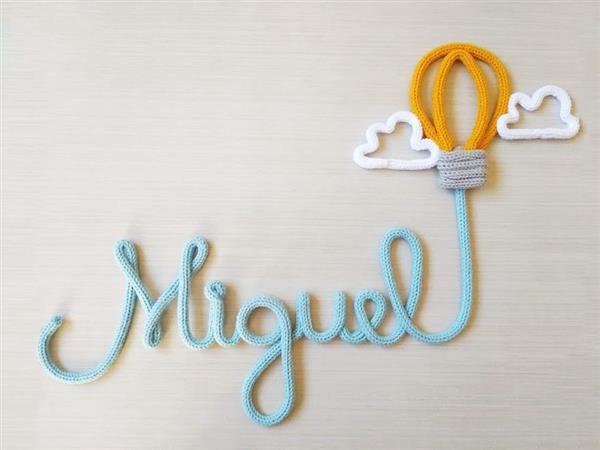 tricotin nome com balão