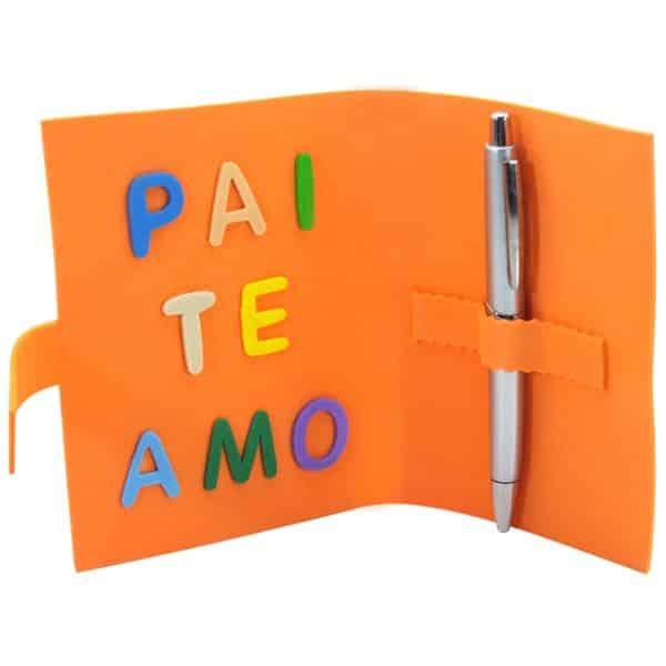 cartao porta caneta