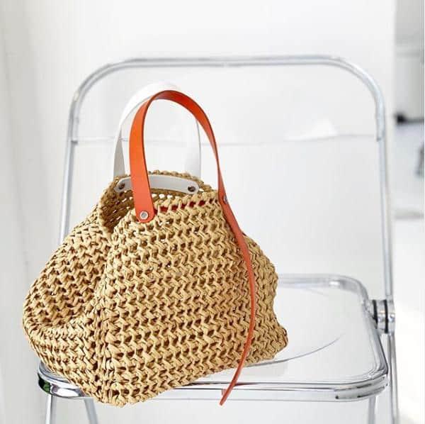 bolsa de croche tunisiano estilosa