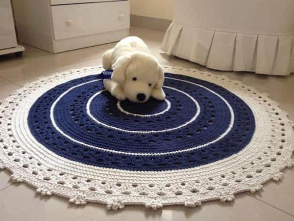 materiais para fazer tapete de croche