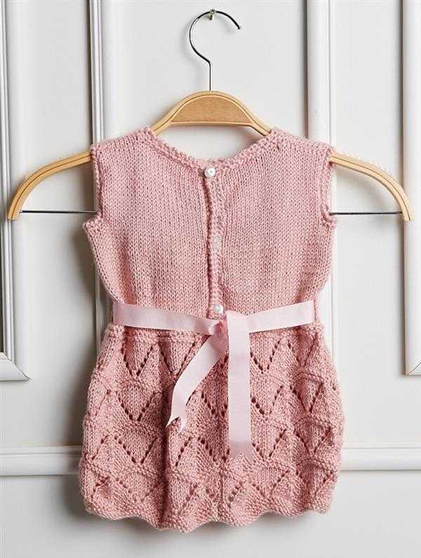 receita de vestido de crochê infantil rosa
