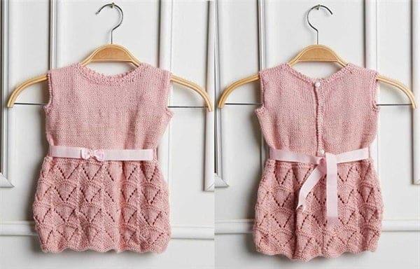 Vestido de Crochê Infantil com gráfico passo a passo