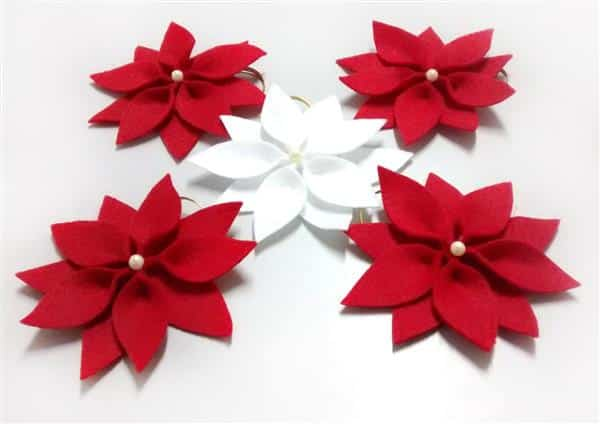 flor de natal de feltro