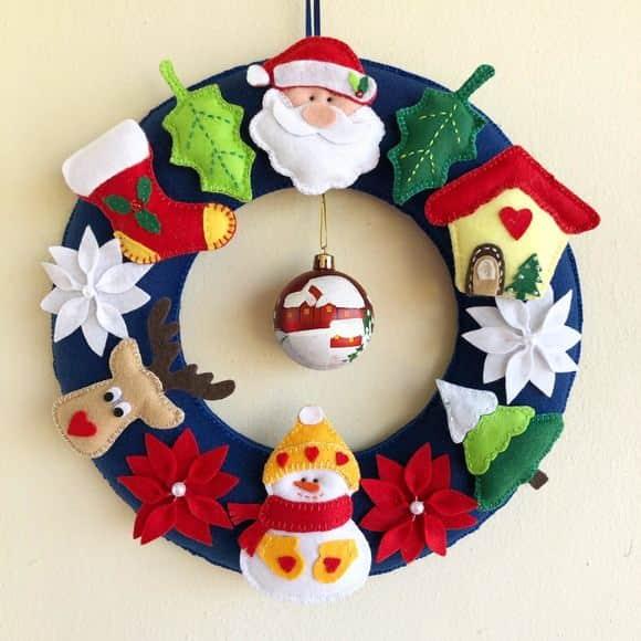 decoração de guirlanda natalina