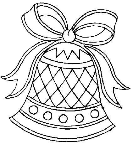 desenho de sino de natal