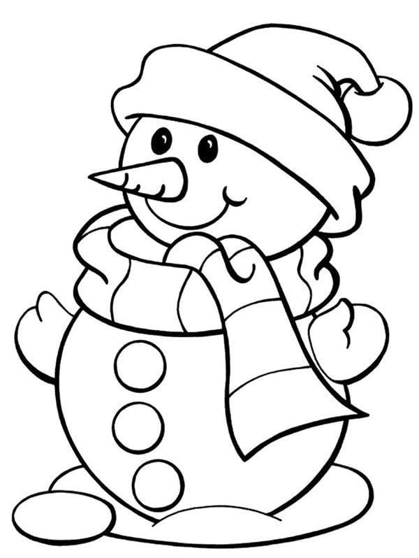 boneco de neve para colorir