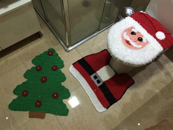 jogo de banheiro natalino
