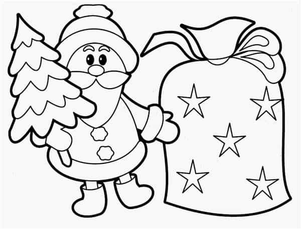 Desenho do Papai Noel