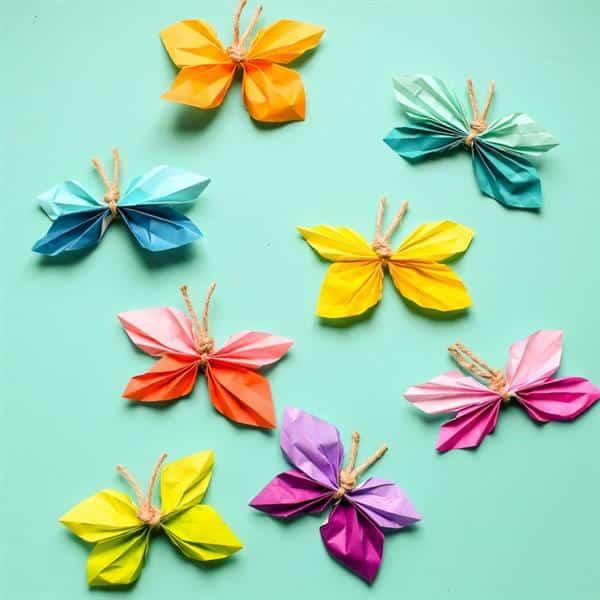 borboletas de papel faceis