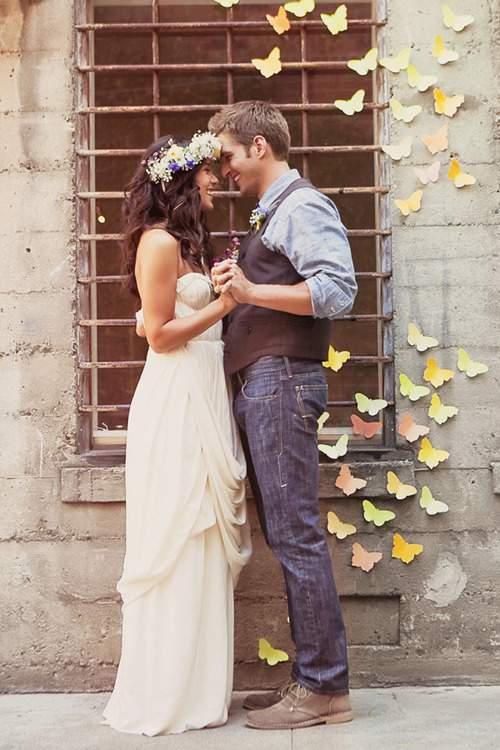 em casamento