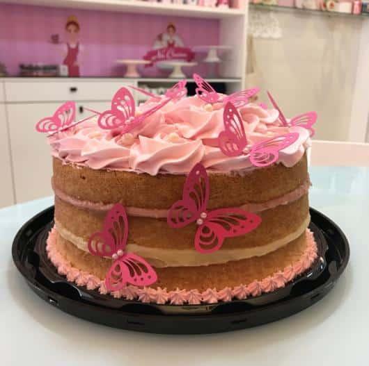 borboletas no bolo